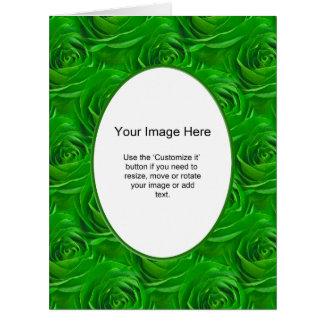Modelo da foto - papel de parede esmeralda do rosa cartão comemorativo grande