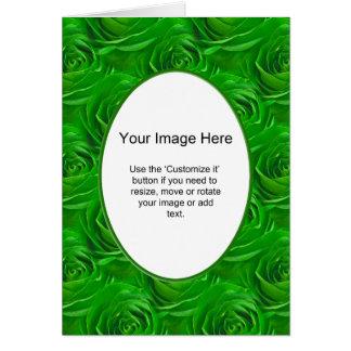 Modelo da foto - papel de parede esmeralda do rosa cartão comemorativo