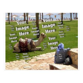 Modelo da imagem das férias cartão postal