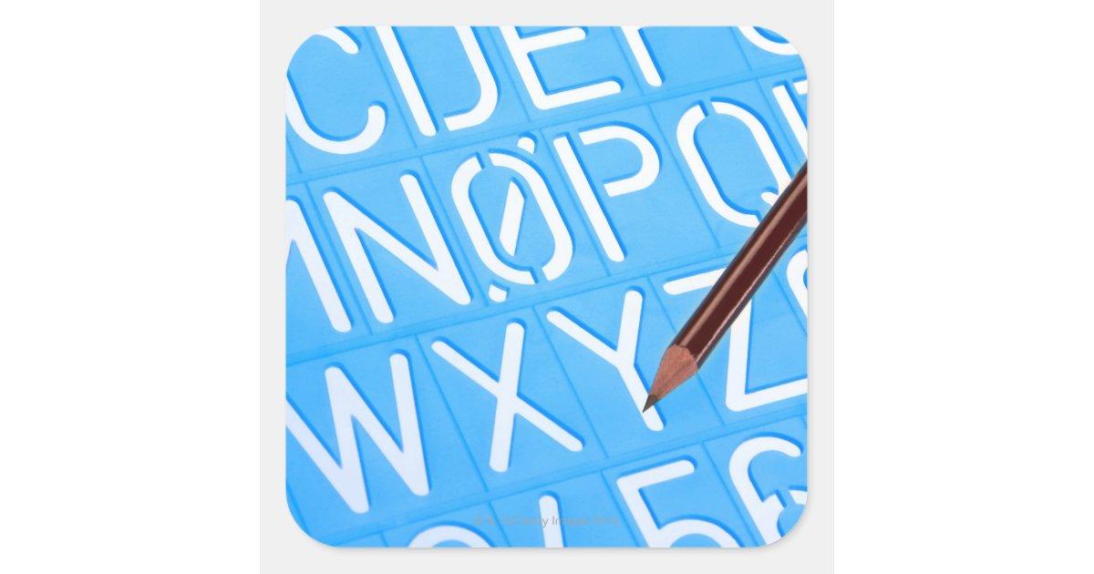 Aparador Estreito Para Sala ~ Modelo da letra e do número adesivo quadrado Zazzle