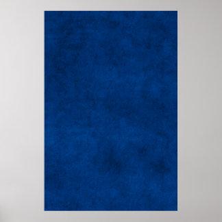 Modelo da meia-noite do pergaminho do papel azul pôster