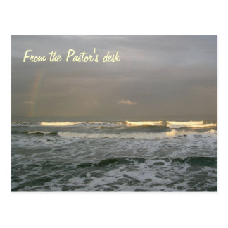 Modelo da mesa do pastor do surf do oceano cartão postal
