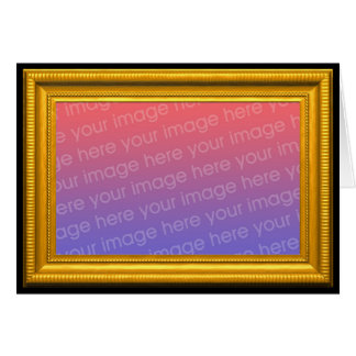 Modelo da moldura para retrato do ouro cartão comemorativo