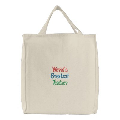 Modelo da sacola do professor dos mundos o grande bolsas