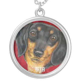 Modelo das iniciais da colar - cão do Dachshund