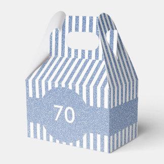 Modelo das listras azuis caixinha de lembrancinhas
