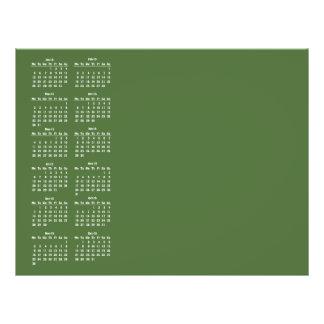 modelo de 2015 calendários modelo de panfleto