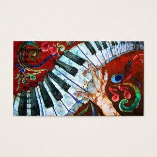 Modelo de cartão de negócios 1 do piano