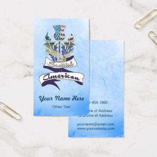 Modelo de cartão de negócios americano escocês do