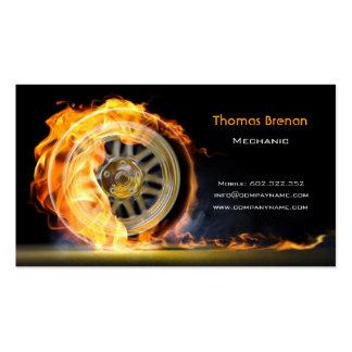 Modelo de cartão de negócios automotriz da roda do cartão de visita