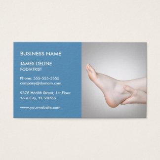 Modelo de cartão de negócios azul clássico do