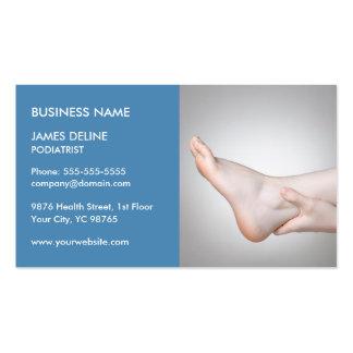 Modelo de cartão de negócios azul clássico do cartão de visita