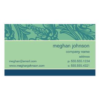 Modelo de cartão de negócios azul da cerceta do Aq Cartão De Visita