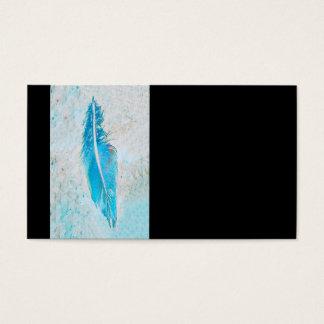 modelo de cartão de negócios azul da pena