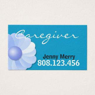 Modelo de cartão de negócios azul do cuidador
