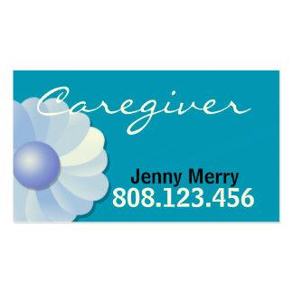 Modelo de cartão de negócios azul do cuidador cartoes de visitas
