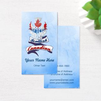 Modelo de cartão de negócios canadense escocês do
