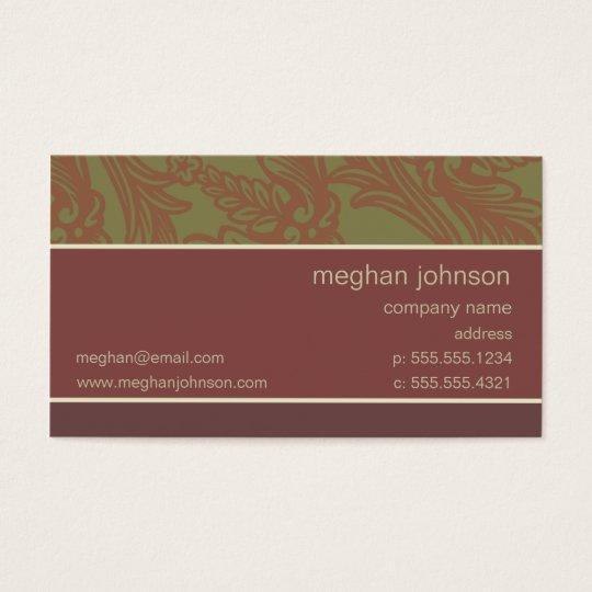 Modelo de cartão de negócios chique cor-de-rosa da