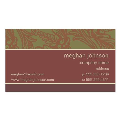 Modelo de cartão de negócios chique cor-de-rosa da cartão de visita