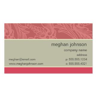 Modelo de cartão de negócios chique cor-de-rosa do cartão de visita
