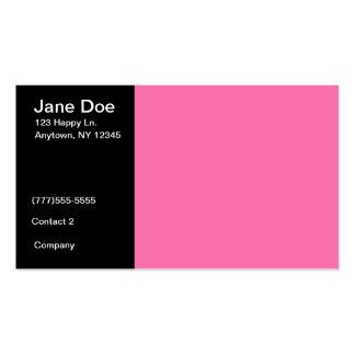 Modelo de cartão de negócios cor-de-rosa e preto cartão de visita