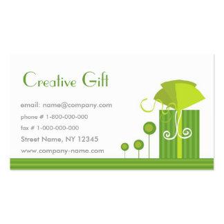 Modelo de cartão de negócios criativo da loja de l modelo cartão de visita