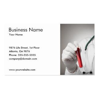Modelo de cartão de negócios da amostra de sangue cartão de visita