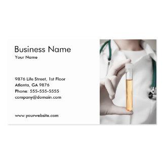Modelo de cartão de negócios da amostra de urina modelo de cartões de visita