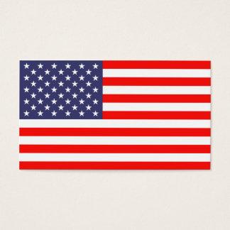 Modelo de cartão de negócios da bandeira americana