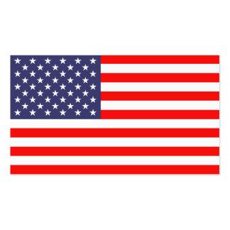 Modelo de cartão de negócios da bandeira americana cartão de visita