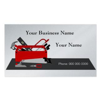 Modelo de cartão de negócios da caixa de ferrament modelos cartao de visita