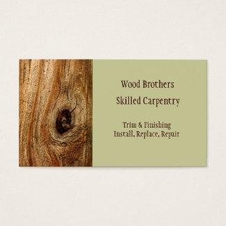 Modelo de cartão de negócios da carpintaria da