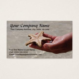 Modelo de cartão de negócios da estrela do mar