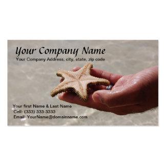 Modelo de cartão de negócios da estrela do mar cartão de visita