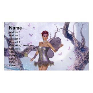Modelo de cartão de negócios da fada do Lilac Cartão De Visita