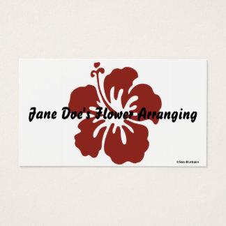 Modelo de cartão de negócios da flor do hibiscus