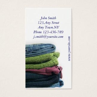 Modelo de cartão de negócios da lavanderia