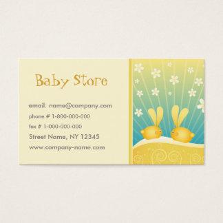 Modelo de cartão de negócios da loja do bebê