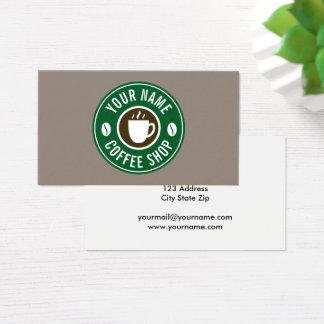 Modelo de cartão de negócios da loja do café da