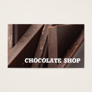 Modelo de cartão de negócios da loja do chocolate