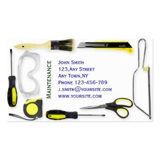 Modelo de cartão de negócios da manutenção cartão de visita