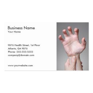 Modelo de cartão de negócios da mão da mulher cartao de visita
