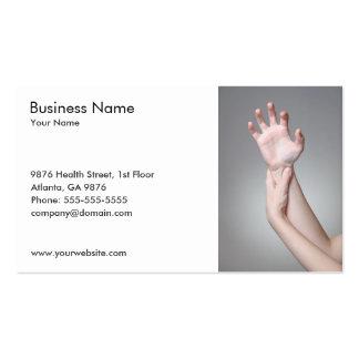 Modelo de cartão de negócios da mão da mulher cartoes de visitas
