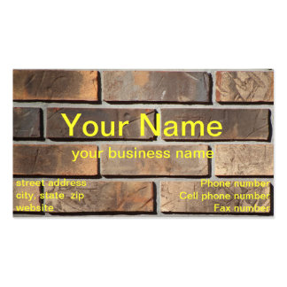 Modelo de cartão de negócios da parede de tijolo cartão de visita