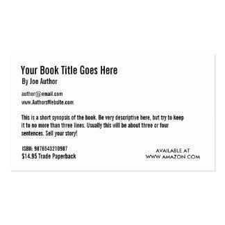 Modelo de cartão de negócios da promoção do livro cartão de visita