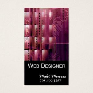 Modelo de cartão de negócios da Web Design-2