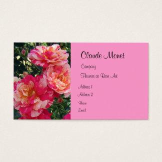Modelo de cartão de negócios das rosas vermelhas
