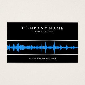 Modelo de cartão de negócios de DJ/Music