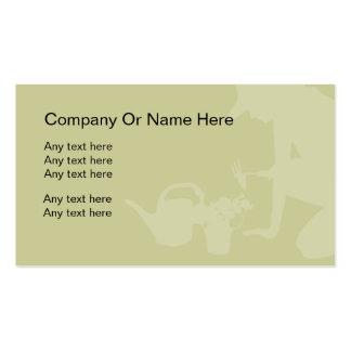Modelo de cartão de negócios de jardinagem cartão de visita