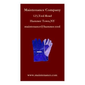 Modelo de cartão de negócios de Manutenção Empresa Cartão De Visita